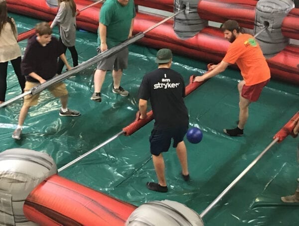 giant inflatable foosball rental party rentals michigan 2
