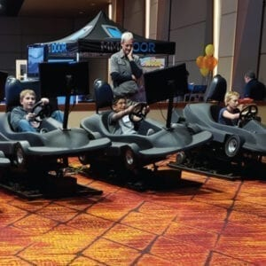 Indy Cart Racing simulator driving party rentals michigan