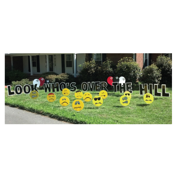 insult faces yard greetings yard cards lawn signs happy birthday party rentals michigan