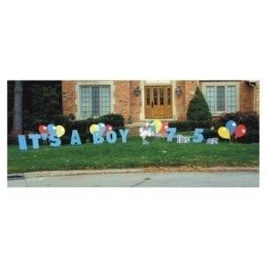 it's a boy yard greetings yard cards lawn signs happy birthday party rentals michigan