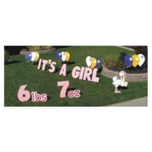 it's a girl yard greetings yard cards lawn signs happy birthday party rentals michigan