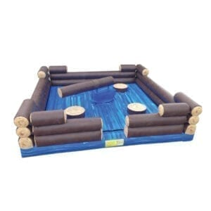 inflatable log slammer party rentals michigan 2