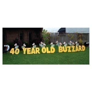 buzzards yard greetings yard cards lawn signs happy birthday party rentals michigan
