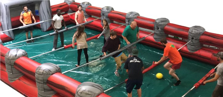 giant foosball inflatable party rentals michigan 100
