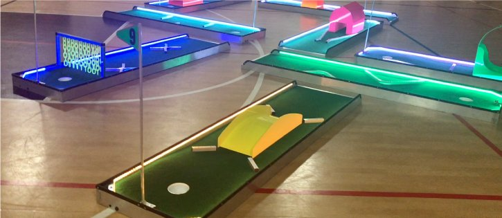 party rentals michigan led mini golf