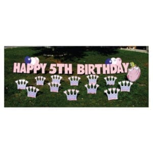 princess yard greetings yard cards lawn signs happy birthday party rentals michigan 3
