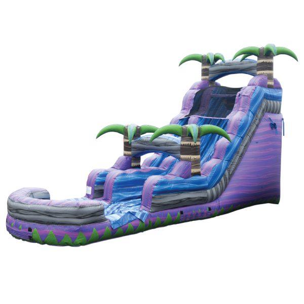 inflatable purple crush water slide rental Michigan party