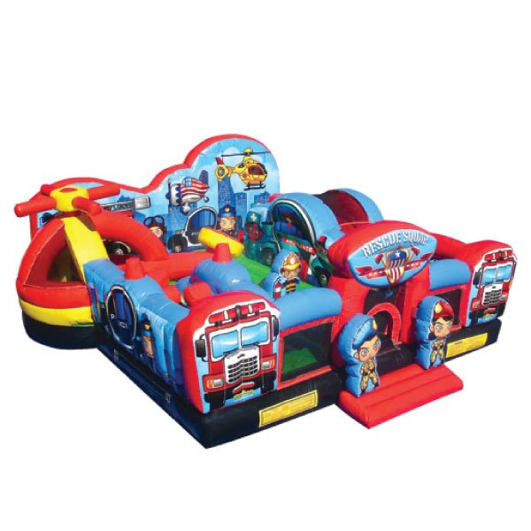 rescue heroes inflatable party rentals michigan combo bounce slide