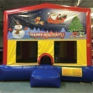 Happy Holidays Christmas inflatable bounce house party rentals michigan