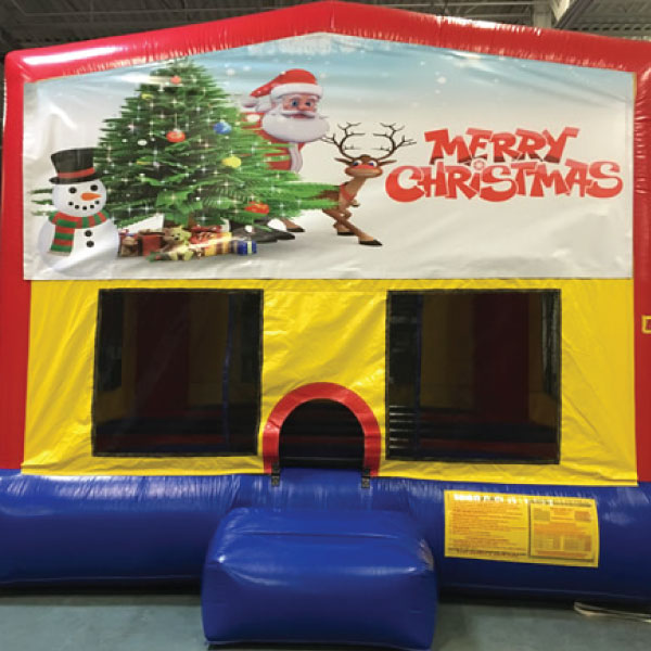 Merry Christmas inflatable bounce house party rentals michigan
