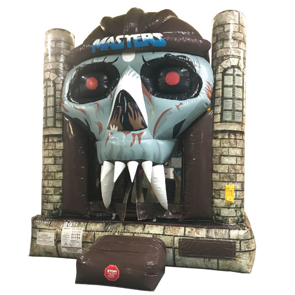 skull inflatable bounce house party rentals michigan