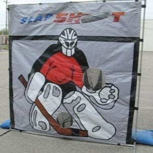 hockey slapshot carnival game party rentals michigan