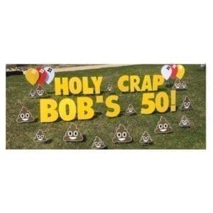 smiley poo yard greetings yard cards lawn signs happy birthday party rentals michigan