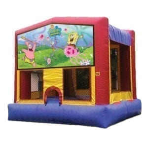 spongebob squarepants inflatable bounce house party rentals michigan