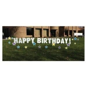 stars yard greetings yard cards lawn signs happy birthday party rentals michigan