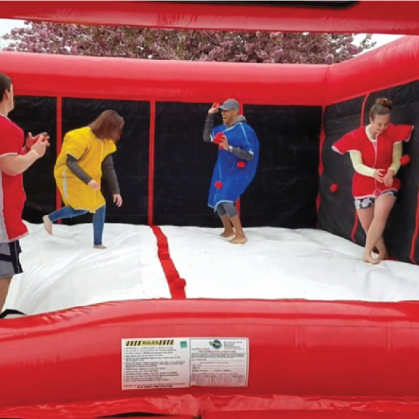 velcro sticky dodgeball inflatable party rentals michigan 1