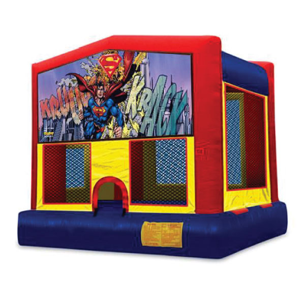 Superman inflatable bounce house party rentals michigan