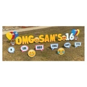 texting yard greetings yard cards lawn signs happy birthday party rentals michigan