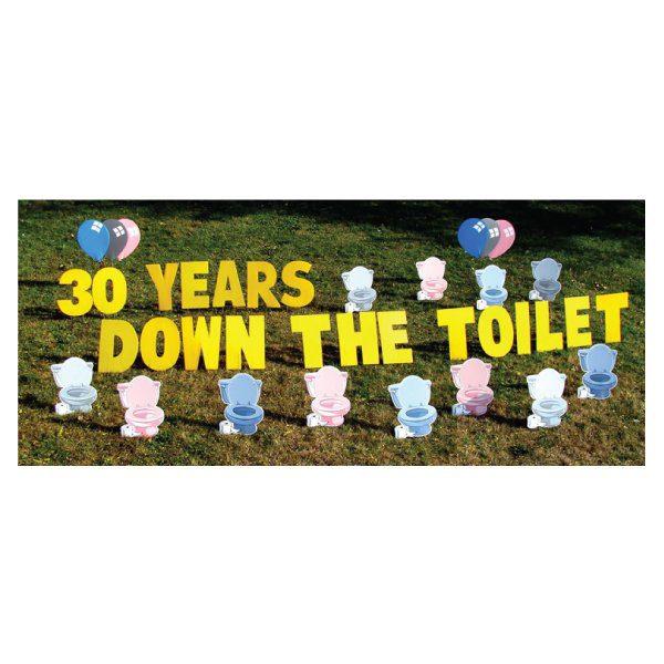 toilet yard greetings rental michigan lawn signs happy birthday yard cards