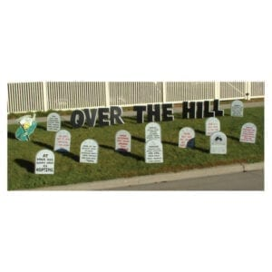 tombstone yard greetings yard cards lawn signs happy birthday party rentals michigan