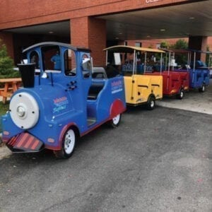 trackless train rental michigan party rentals