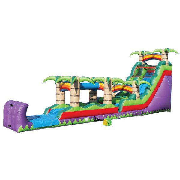 inflatable tropical paradise water slide rental michigan