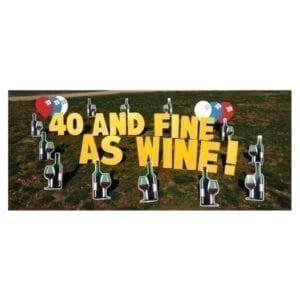 wine yard greetings yard cards lawn signs happy birthday party rentals michigan