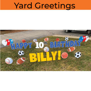yard greetings yard cards happy birthday lawn signs party rentals michigan