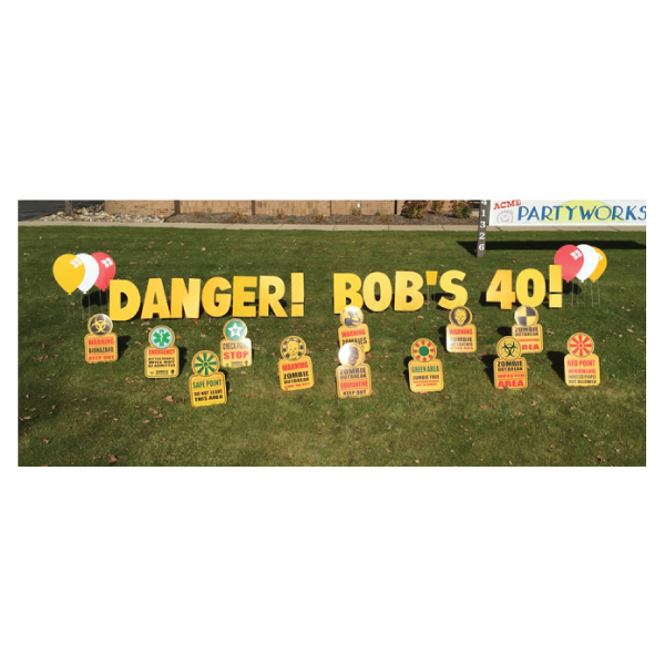 zombie yard greetings yard cards lawn signs happy birthday party rentals michigan