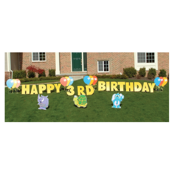 zoo yard greetings yard cards lawn signs happy birthday party rentals michigan