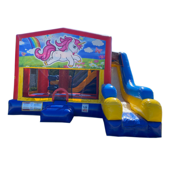 5n1 xl unicorn inflatable bounce slide combo party rentals michigan
