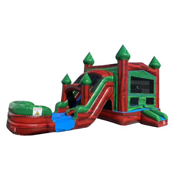 water ruby castle combo bounce slide combo inflatable party rentals michigan